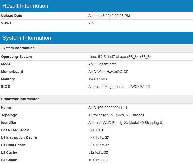 Процессоры AMD Ryzen Threadripper третьего поколения упоминаются под кодовым обозначением Sharktooth