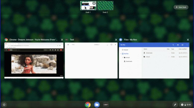 В Chrome OS появились виртуальные рабочие столы