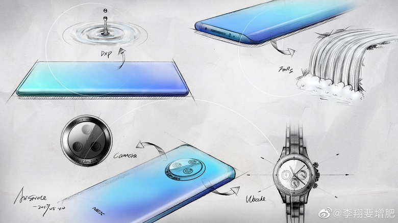 Камера как часы. Первые изображения смартфона Vivo Nex 3 с «экраном-водопадом»