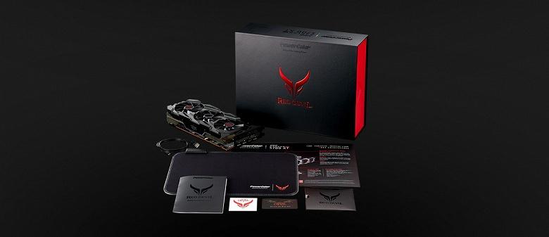Видеокарты PowerColor Red Devil Radeon RX 5700 получили подсветку... видеопортов
