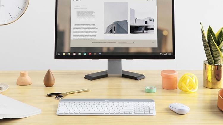 Logitech MK470 Slim Wireless Combo: беспроводные клавиатура и мышь