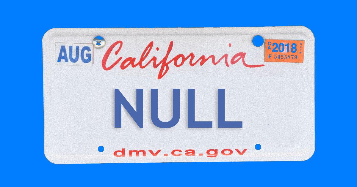 Не шутите с NULL - 1