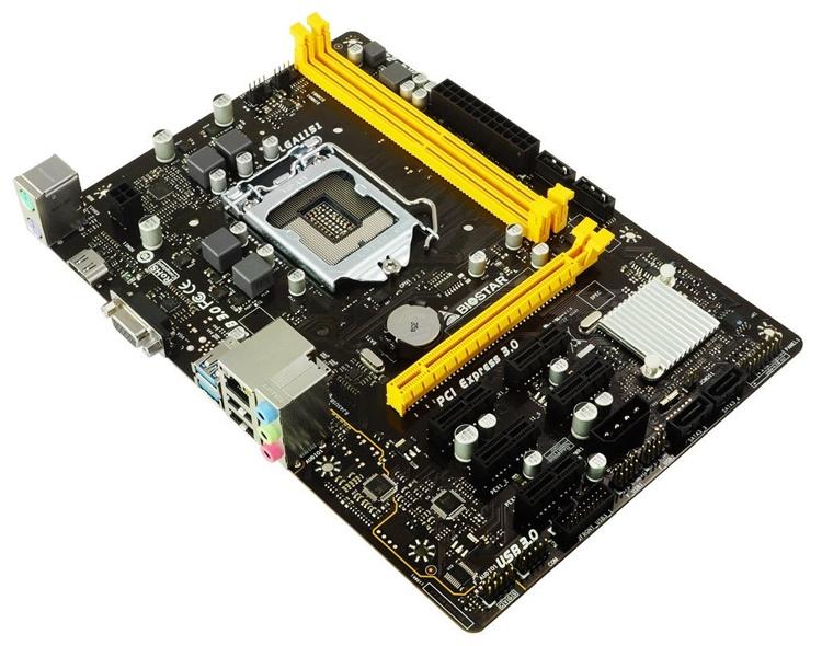 Плата Biostar H110MHC снабжена пятью слотами PCIe x1