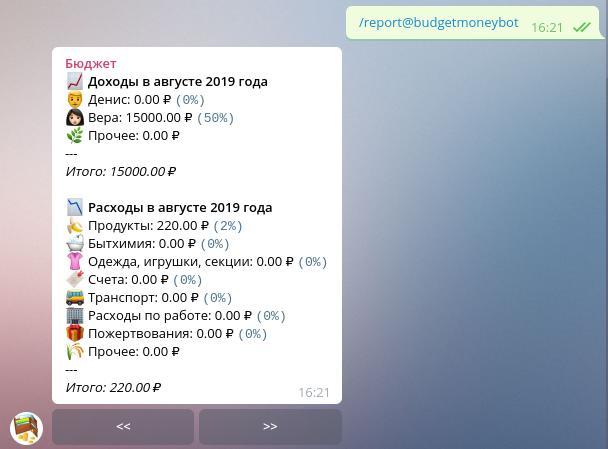 Семейный бюджет в Telegram - 10