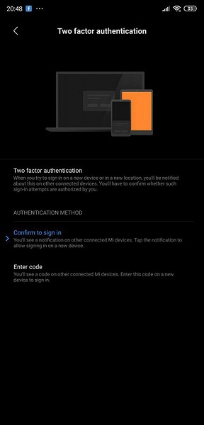В MIUI 10 появилась двухфакторная аутентификация для доступа к некоторым сервисам
