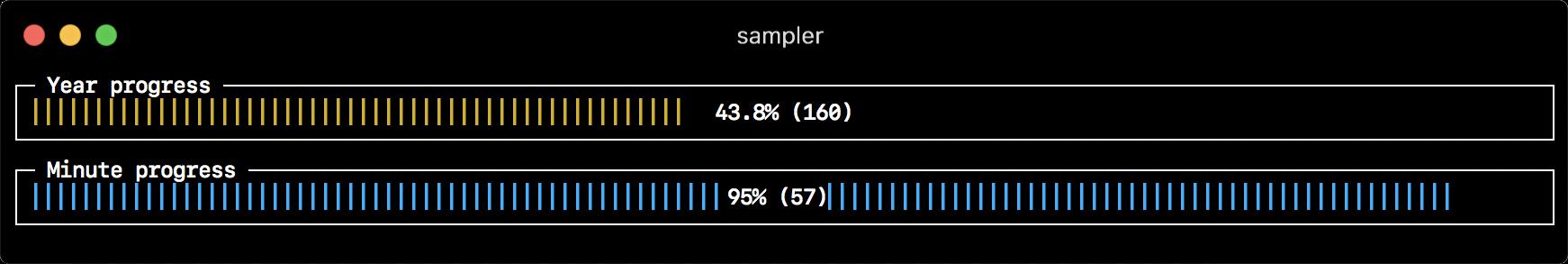 Sampler. Консольная утилита для визуализации результата любых shell команд - 5