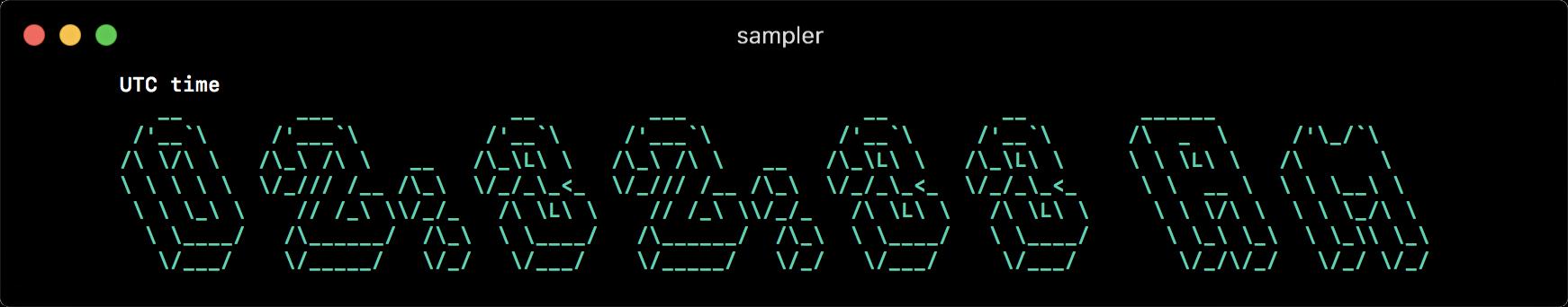 Sampler. Консольная утилита для визуализации результата любых shell команд - 7