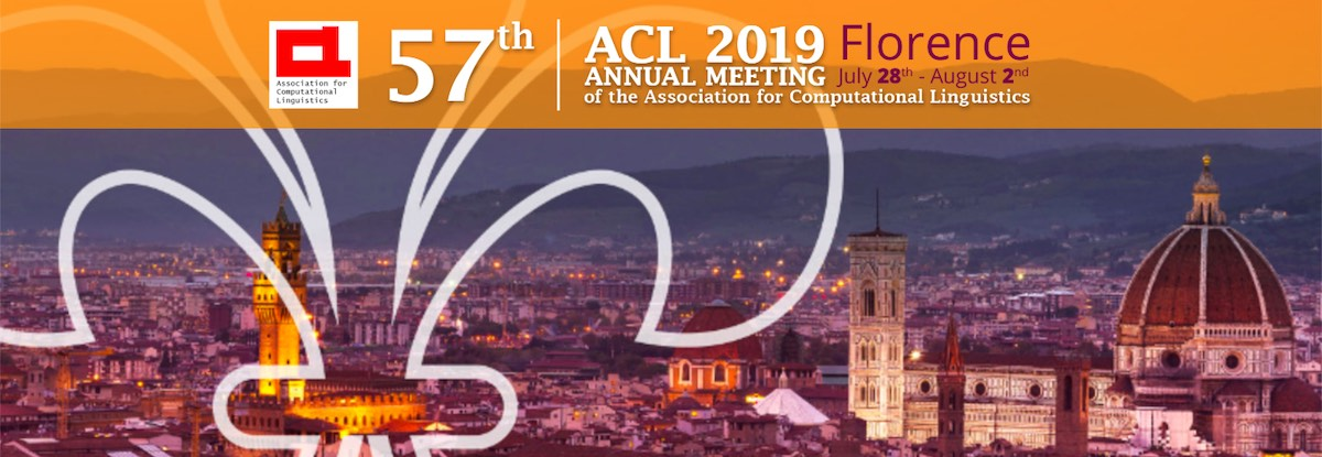 Заметки с конференции ACL 2019 - 1