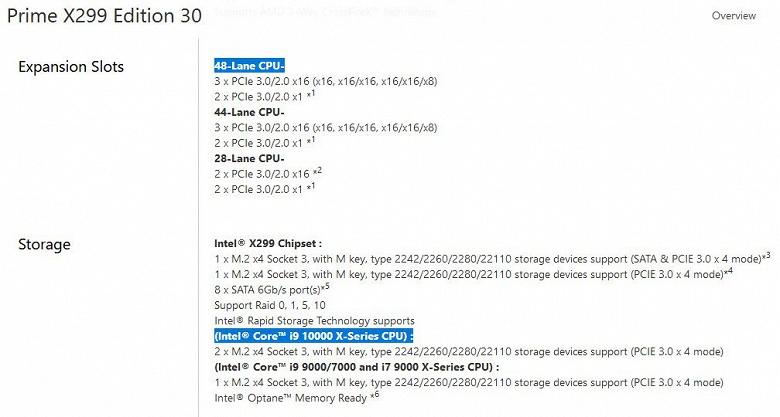 Core i9-10000 — название новой линейки процессоров Intel HEDT