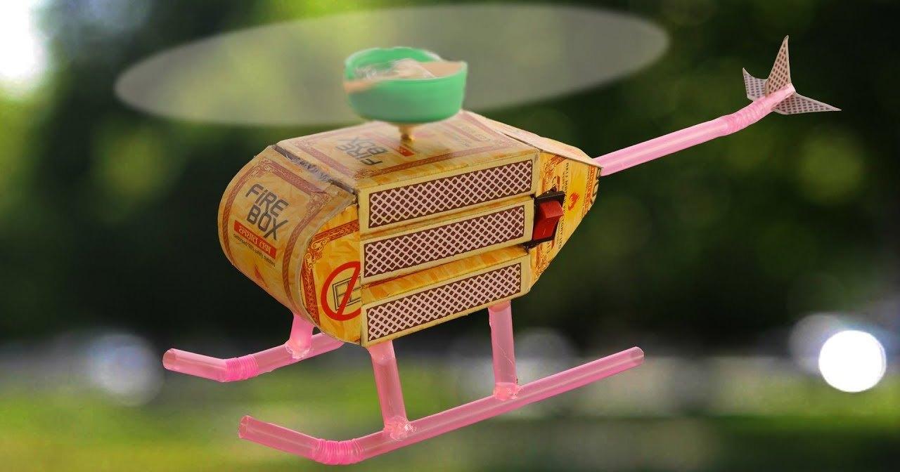 Электровертолет из спичечных коробков: взлетит или нет