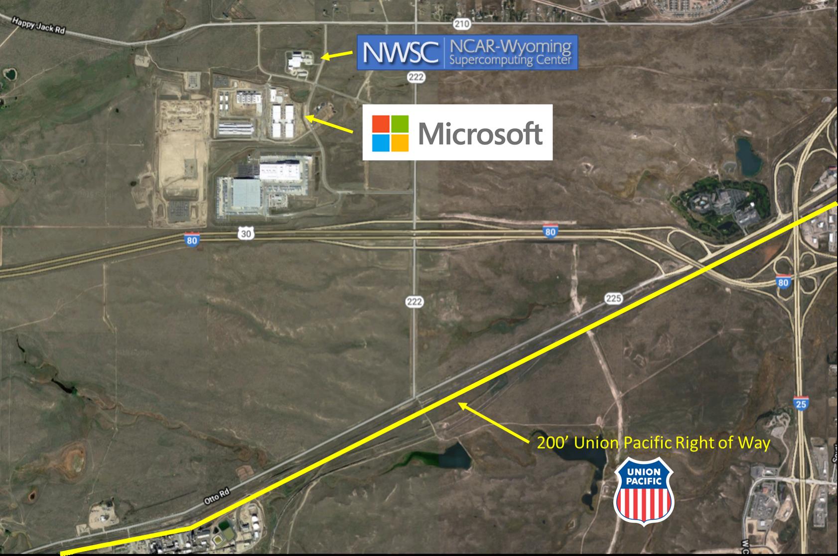 участки Microsoft и NCAR