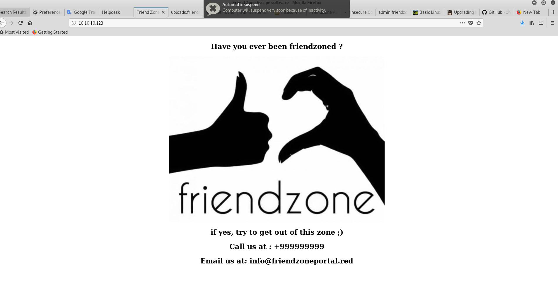 Прохождение лабораторной машины для пентеста «Hackthebox — Friendzone» - 7