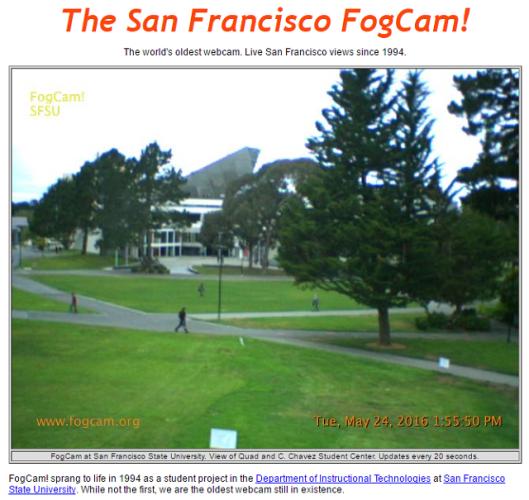 Самую старую в мире работающую веб-камеру FogCam (г. Сан-Франциско, США) отключат в конце августа после 25 лет работы - 7