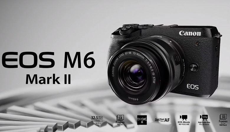 Видео дня: камера Canon EOS M6 Mark II