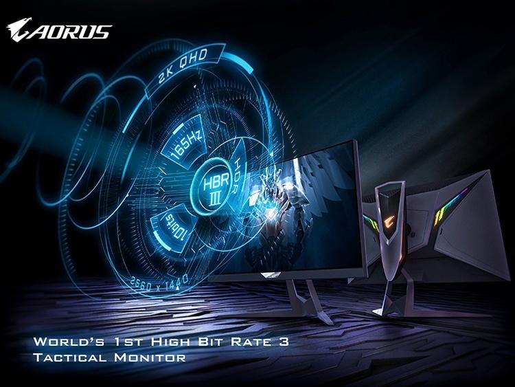 GIGABYTE Aorus FI27Q-P: первый игровой QHD-монитор с поддержкой High Bit Rate 3