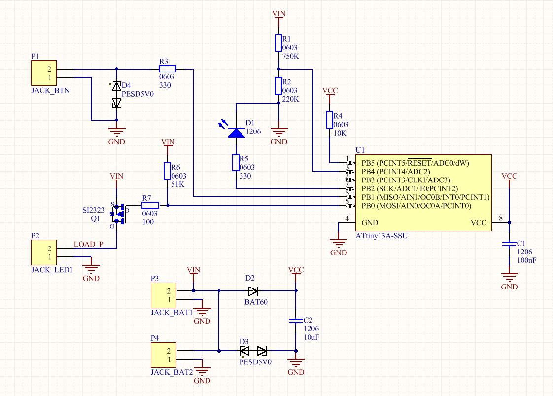 TinyFL — драйвер фонарика на микроконтроллере - 5