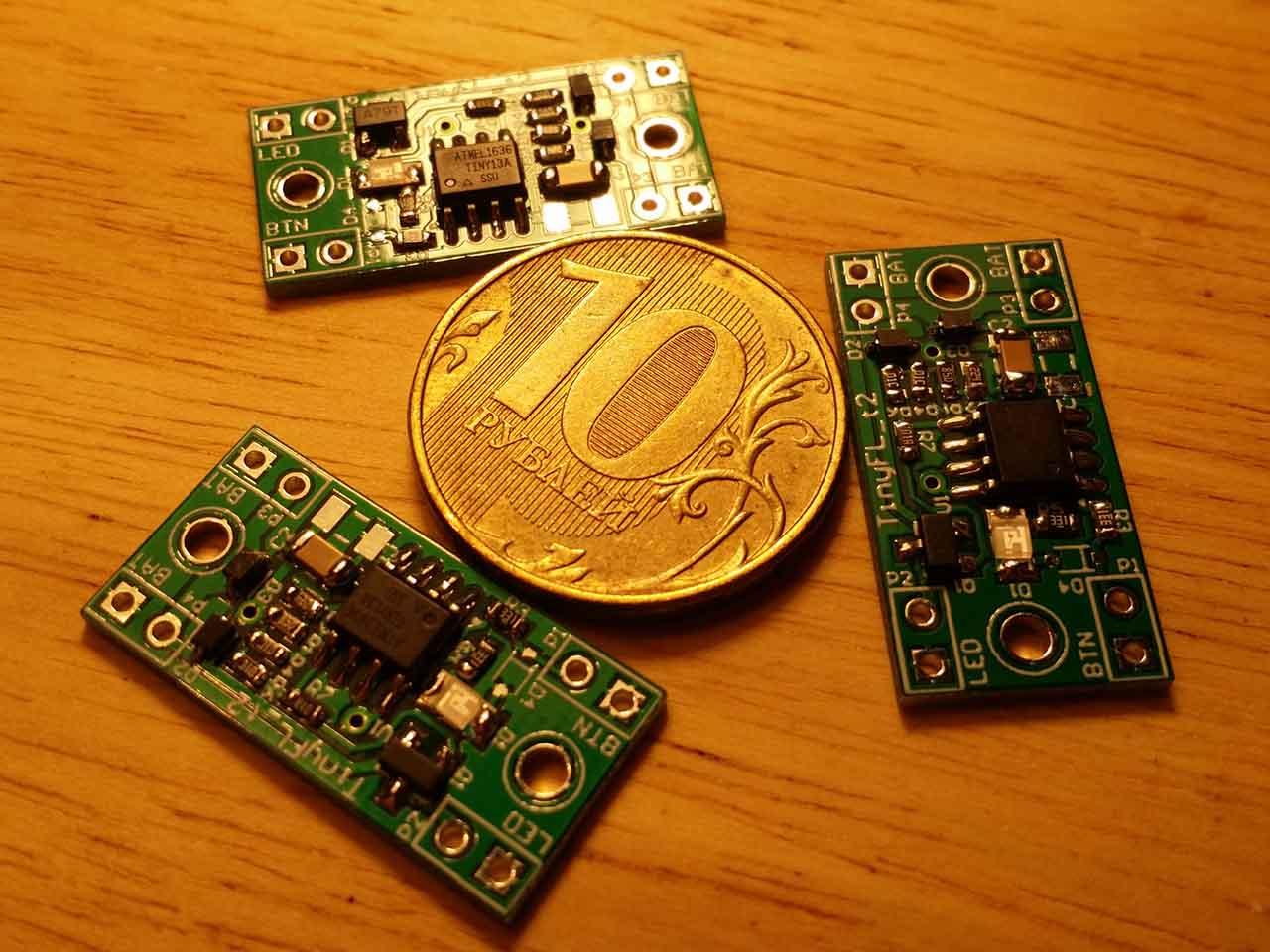 TinyFL — драйвер фонарика на микроконтроллере - 1