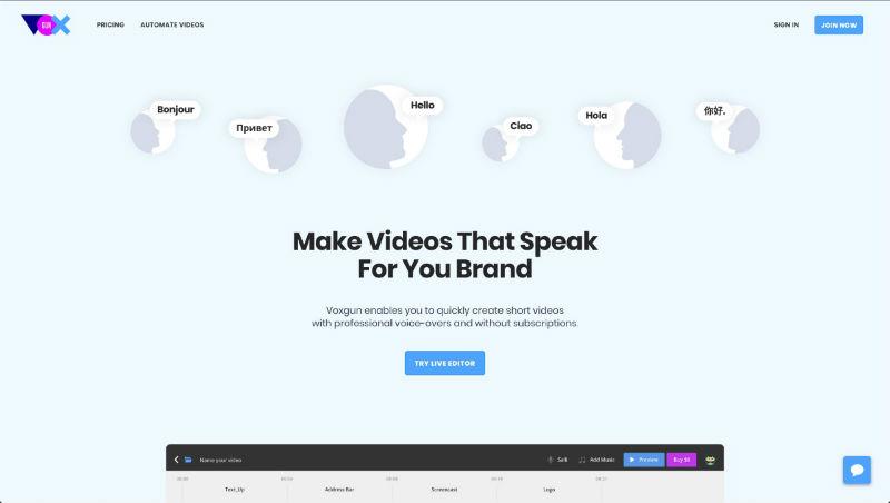 Voxgun – сервис для создания профессионального видеоконтента без лишних усилий - 1