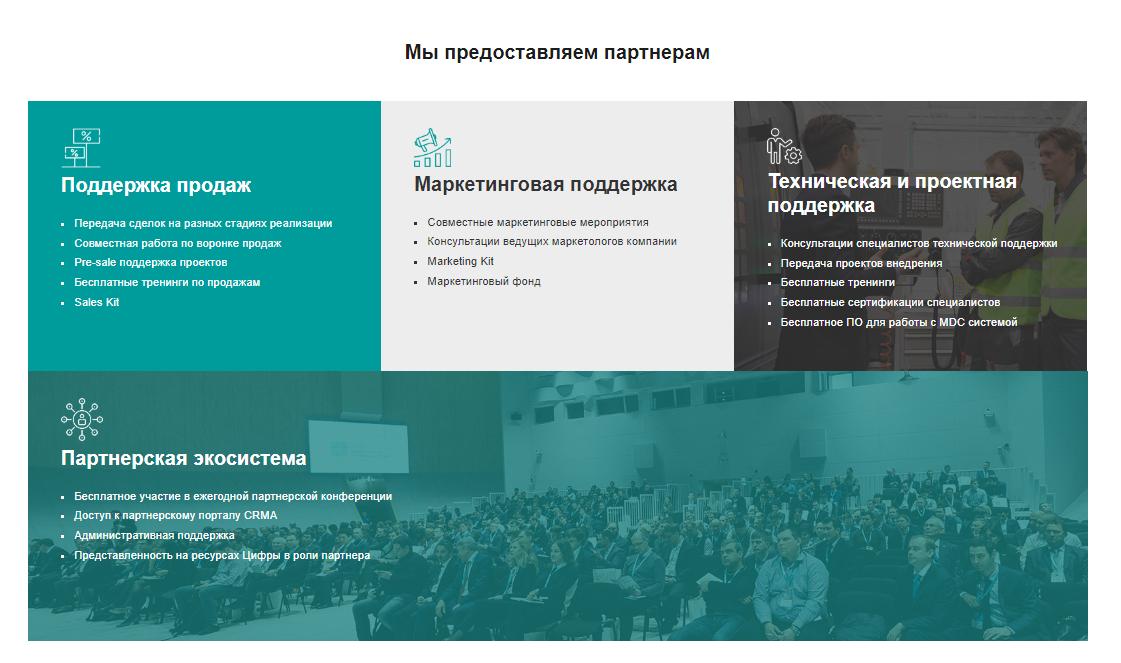 Раздел для партнеров на сайте резидента Сколково — Твинс Технологии