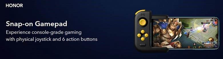 Кнопочный геймпад Honor GamePad подходит для большинства смартфонов с USB-C