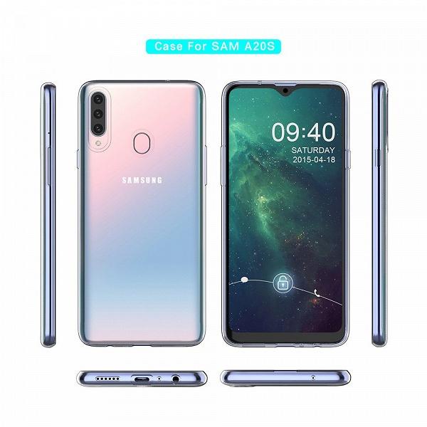 Тройная камера и градиентная крышка: опубликован новый рендер бюджетного смартфона Samsung Galaxy A20s
