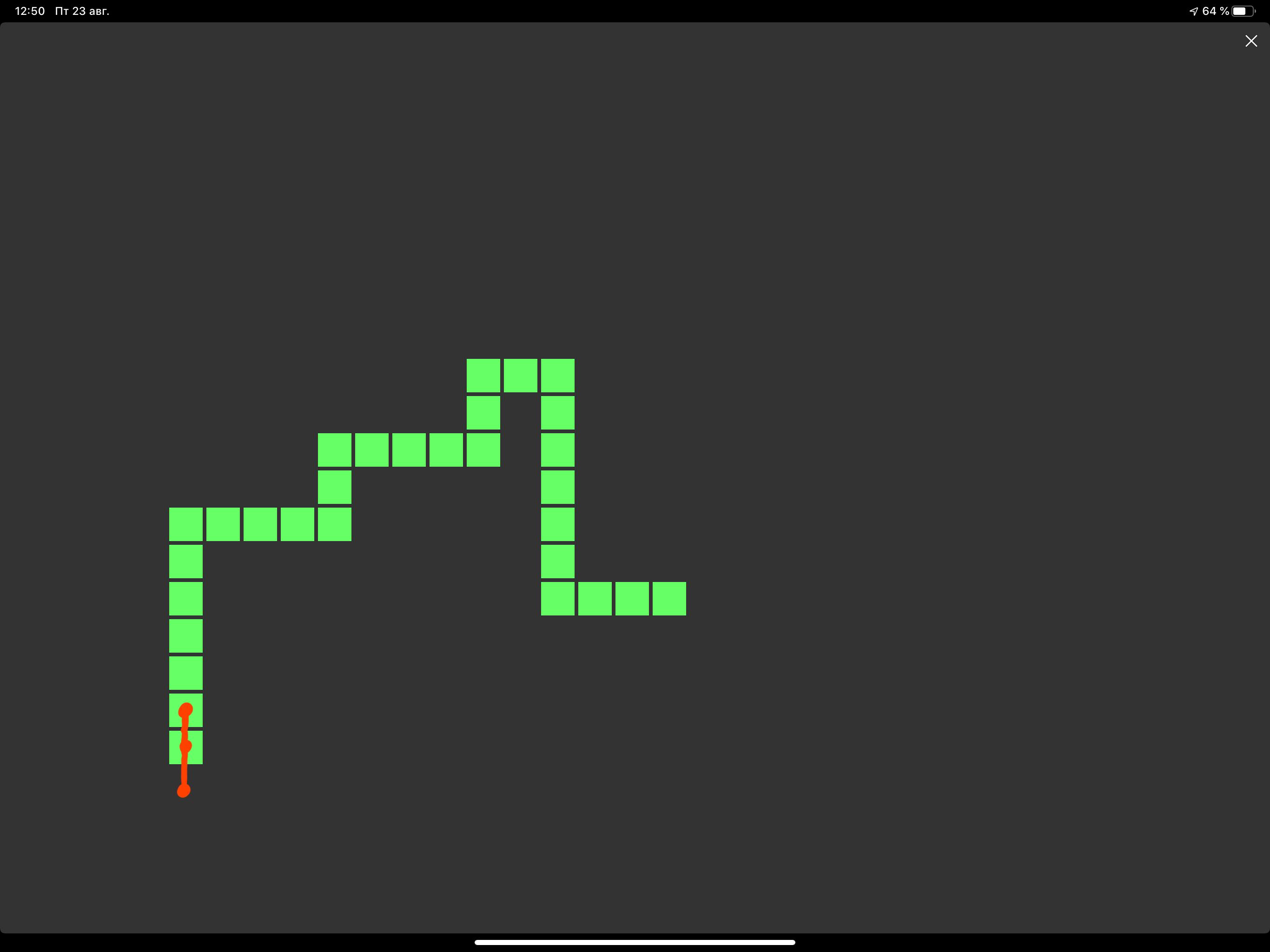 Написание змейки на ipad (pythonista) - 15