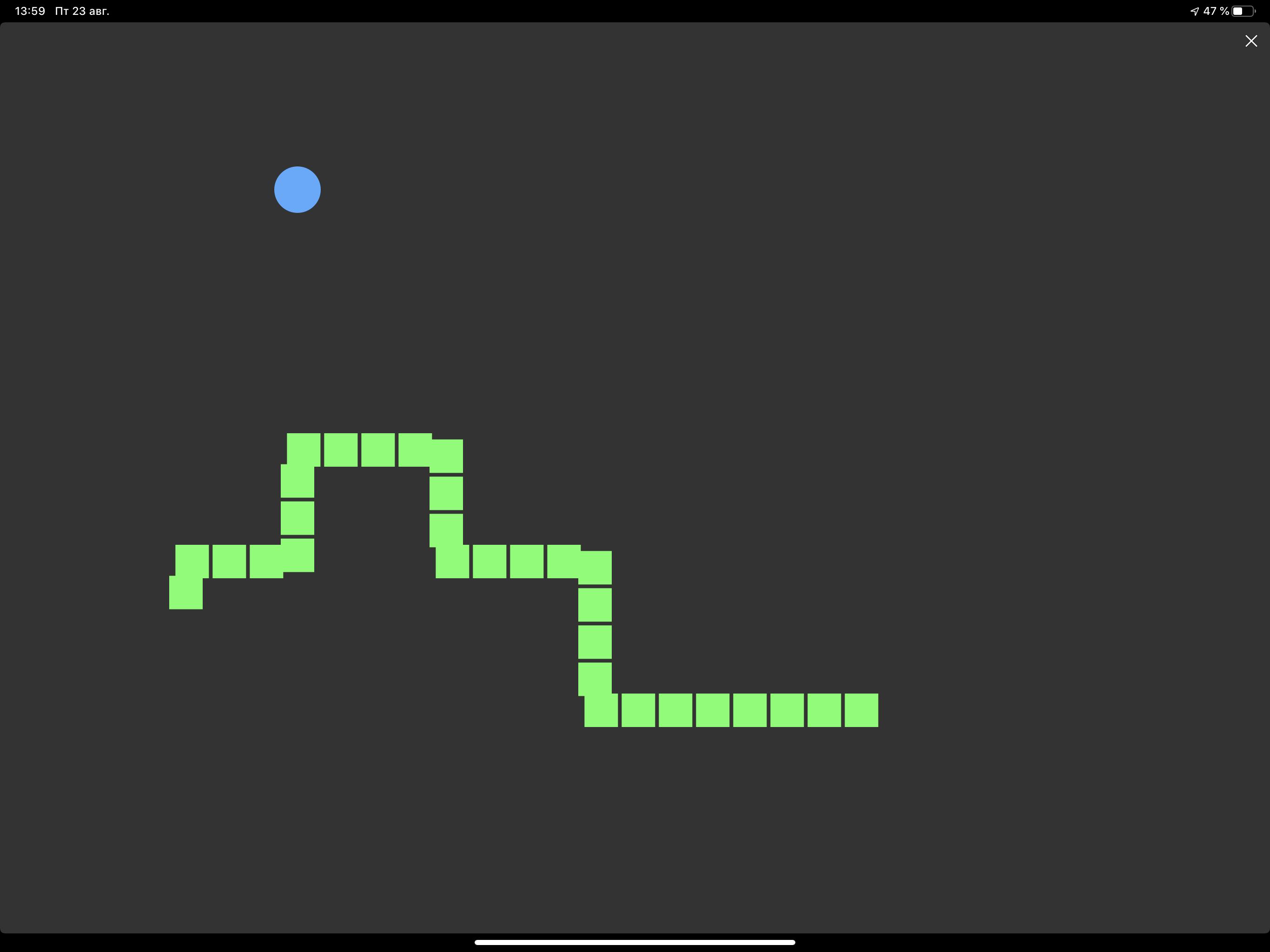 Написание змейки на ipad (pythonista) - 17