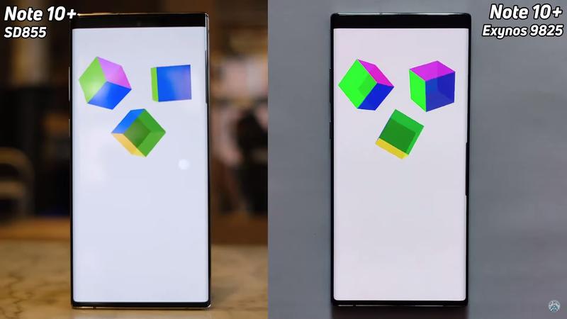 Galaxy Note10+ на Exynos 9825 против Note10+ на Snapdragon 855: тест на скорость