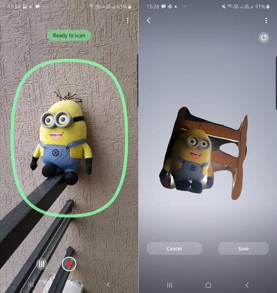 Флагманский смартфон Samsung Galaxy Note 10+ обучили 3D-сканированию