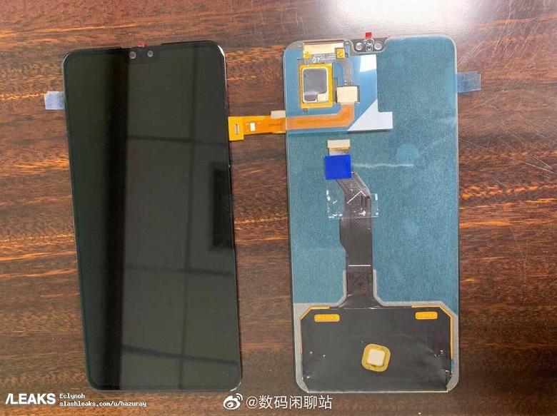 Живые фото экрана Huawei Mate 30 с обеих сторон. Широкая верхняя рамка и монобровь