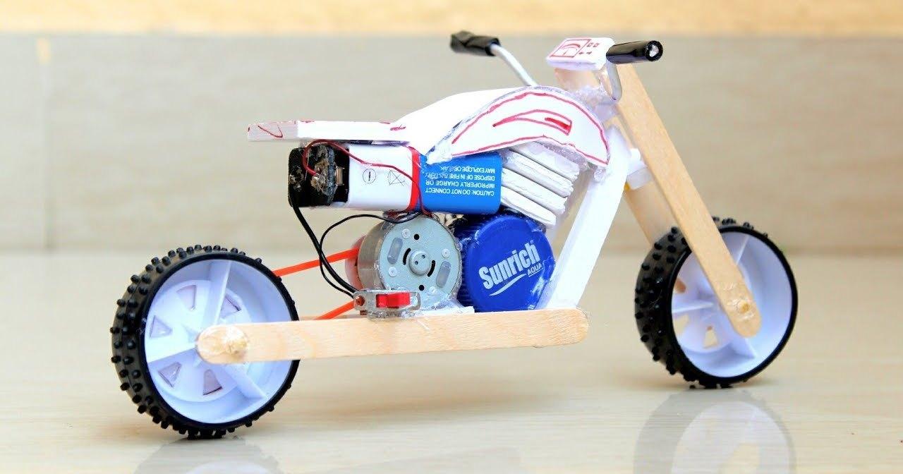Как сделать игрушечный электробайк своими руками
