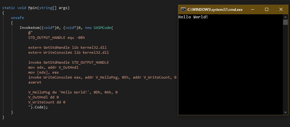Ассемблерные вставки… в C#? - 1