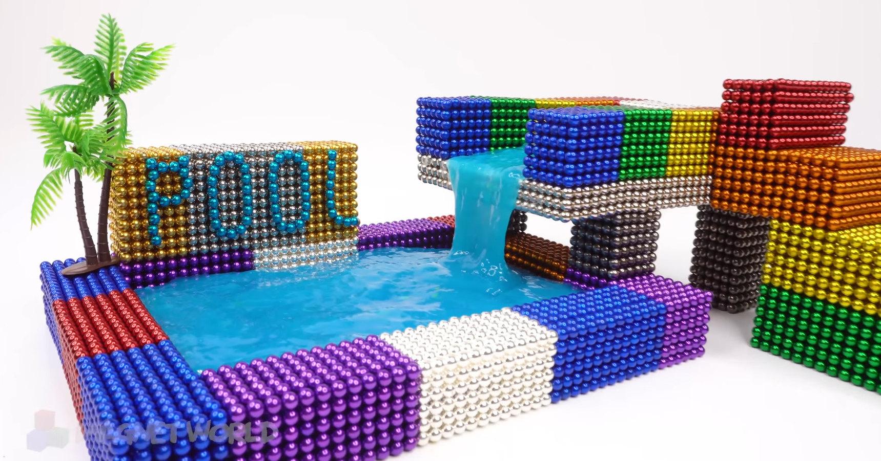 Как сделать двухъярусный комнатный фонтан из магнитов