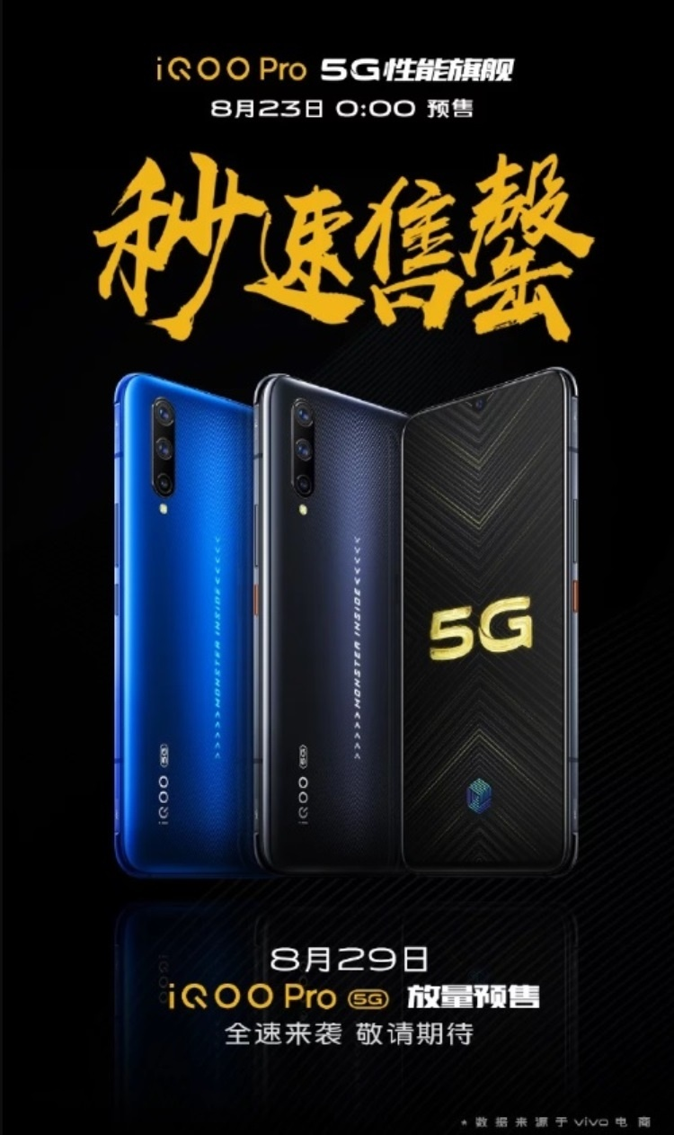Стартовая партия смартфонов iQOO Pro 5G распродана на 1 секунду