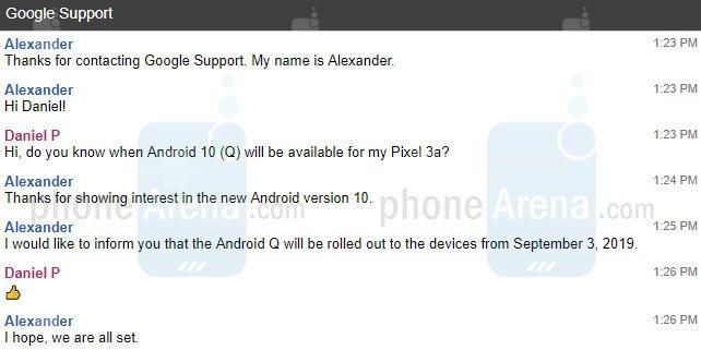 Подтверждена дата выхода Android 10