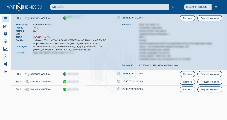 Комфортный DevOpsSec: Nemesida WAF Free для NGINX с API и личным кабинетом - 4