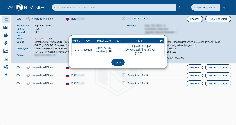 Комфортный DevOpsSec: Nemesida WAF Free для NGINX с API и личным кабинетом - 5