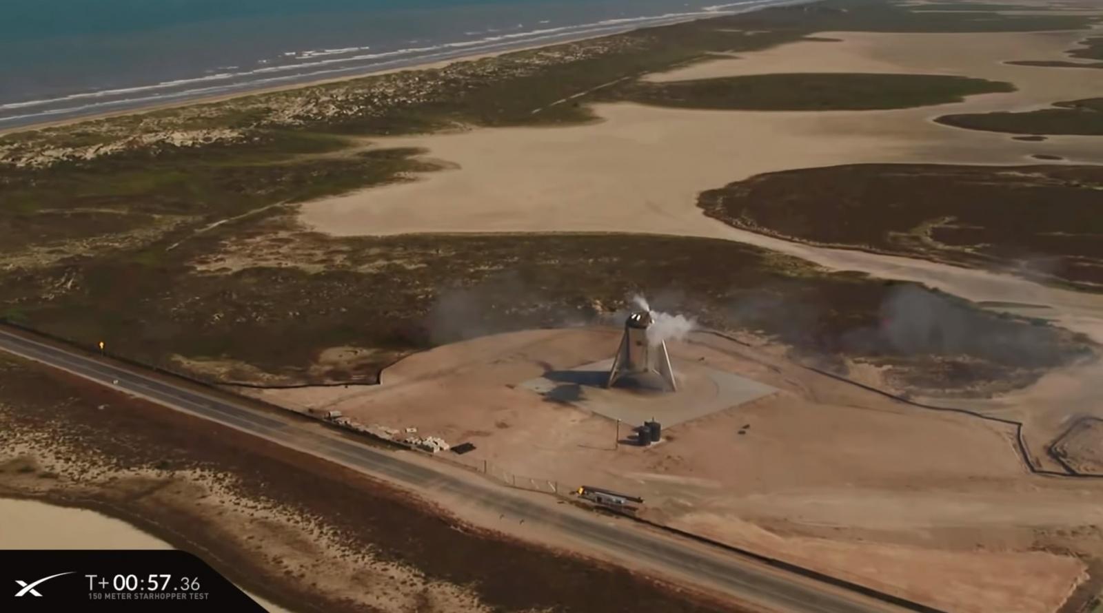 SpaceX провела летные испытания прототипа ракеты Starship — взлет на высоту 150 метров и мягкая посадка на площадку - 11