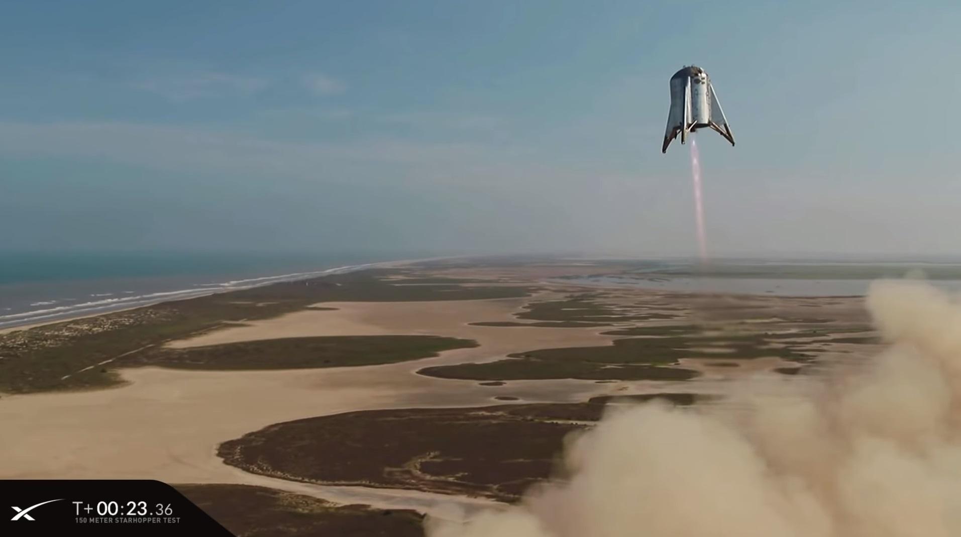 SpaceX провела летные испытания прототипа ракеты Starship — взлет на высоту 150 метров и мягкая посадка на площадку - 4