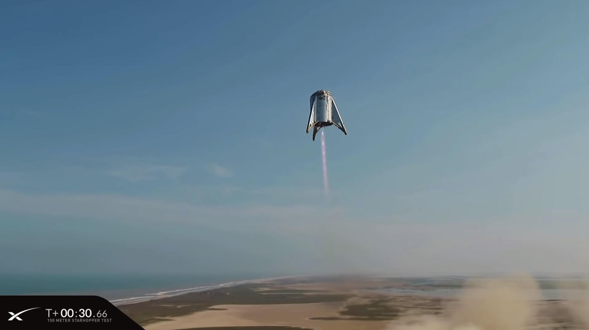 SpaceX провела летные испытания прототипа ракеты Starship — взлет на высоту 150 метров и мягкая посадка на площадку - 5