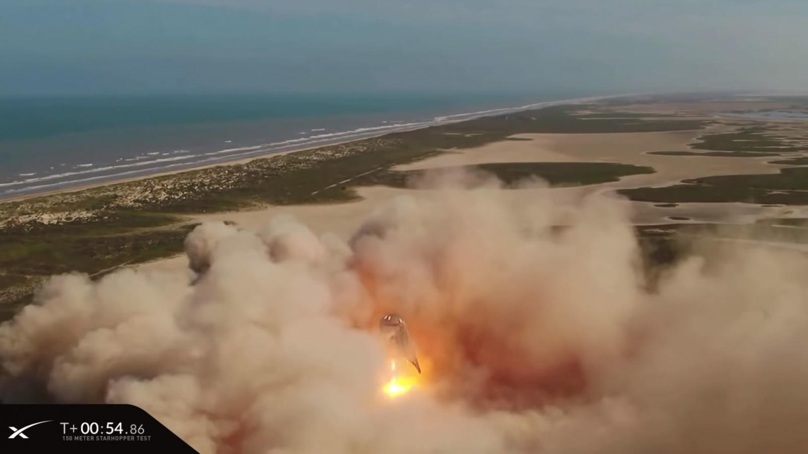 SpaceX провела летные испытания прототипа ракеты Starship — взлет на высоту 150 метров и мягкая посадка на площадку - 9