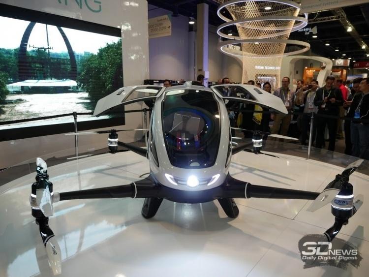 Китай может стать первой в мире страной с регулярными перевозками пассажиров беспилотными дронами