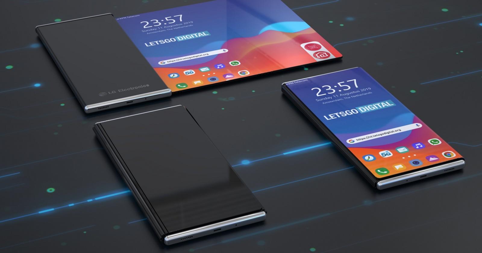 Необычный дизайн смартфона с разворачивающимся экраном: патент LG
