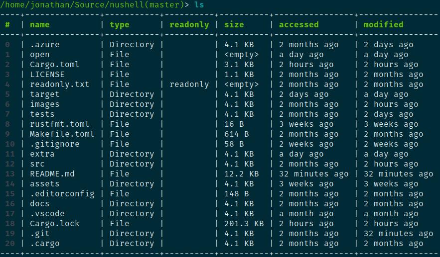 nushell — современный shell, сочетающий Unix-конвейеры и объекты в духе PowerShell - 1