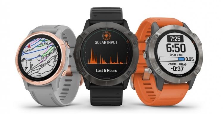 Garmin анонсировала смарт-часы серии Fenix 6, включая модель с солнечной зарядкой