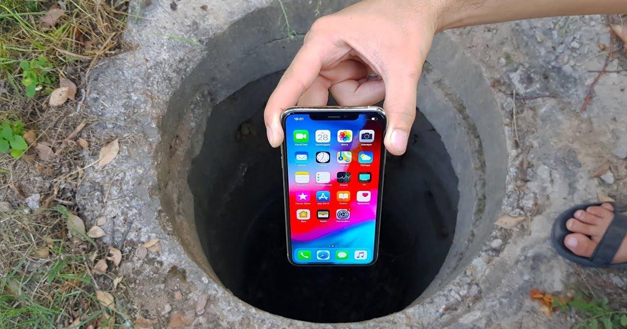 Как выглядит канализация «глазами» iPhone XS Max, попавшего в нее