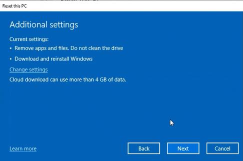 В сборке Windows 10 Insider Preview Build 18970 операционную систему можно переустановить из облака - 4