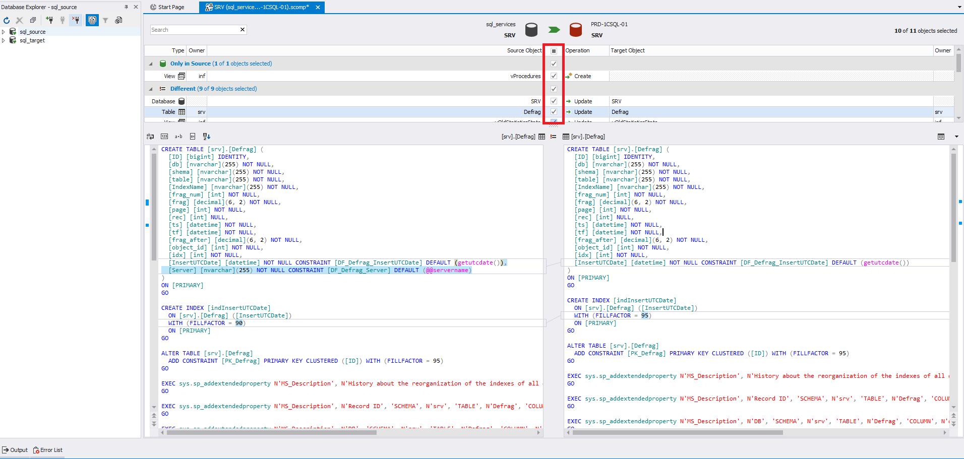 Сравнение компараторов для синхронизации схем и данных баз данных MS SQL Server - 13