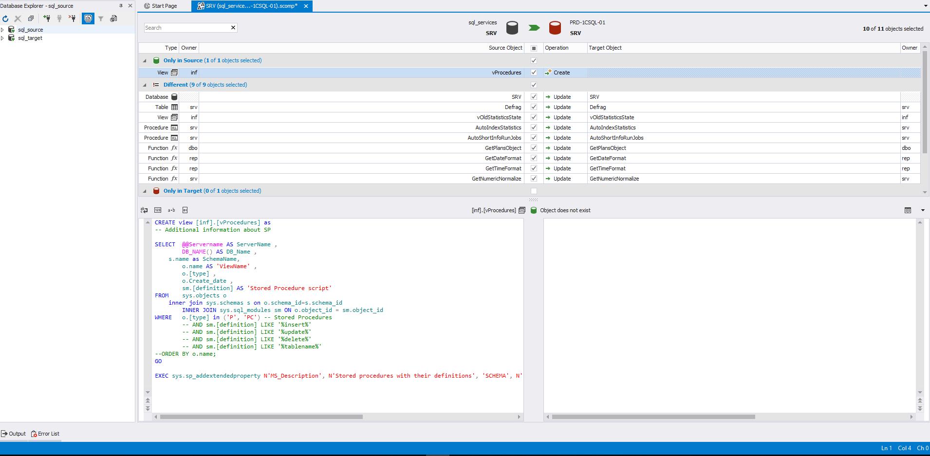 Сравнение компараторов для синхронизации схем и данных баз данных MS SQL Server - 14