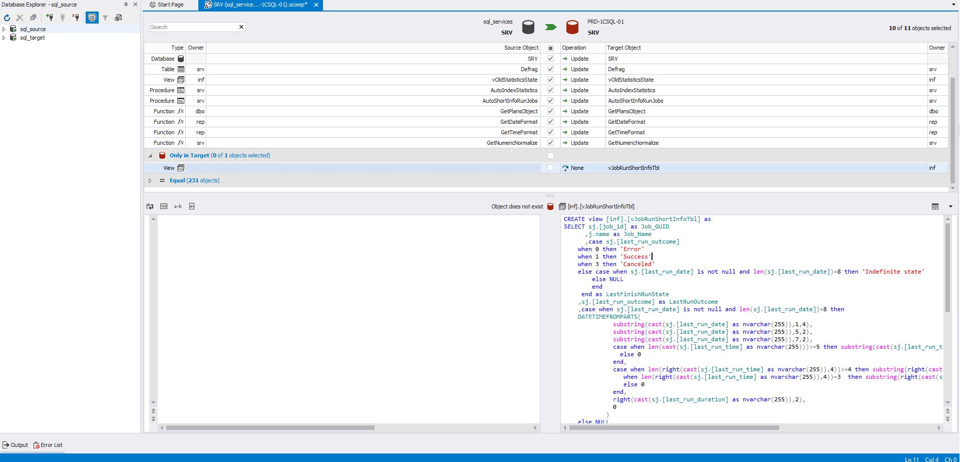 Сравнение компараторов для синхронизации схем и данных баз данных MS SQL Server - 15